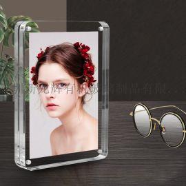强磁亚克力台卡相框照片框水晶像框摆