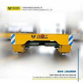转运钢管运输重型铁铸件轨道台车 地爬轨道电动平板车
