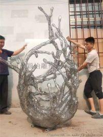 金属落地雕塑-公园雕塑
