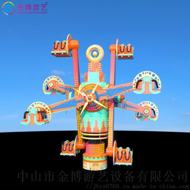 网红景点机动项目 空中旋转椅 环游世界游乐设备