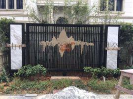 艺术不锈钢双色景墙安装效果厂家专业定制特色景墙