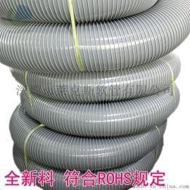 PVC方骨风管 塑筋螺旋增强软管 灰骨软管