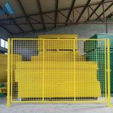 框架黄色隔断网 可移动铁丝隔离网