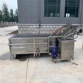 厂家直销全自动高压喷淋气泡清洗机 果蔬深加工生产线