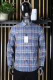 时尚男装品牌七匹狼长袖衬衫格子库存尾单服装折扣男装