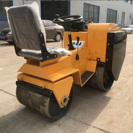 小型单钢轮压路机 回填土压实压土机 手扶式压路机