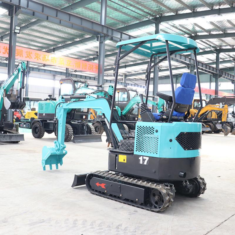岳工机械 挖沟用微挖机 果园施肥18小勾机