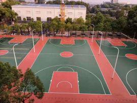 湖南锦腾游乐专业运动场塑胶跑道硅PU球场施工
