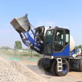 沃特自动上料水泥搅拌车 新款混凝土搅拌机