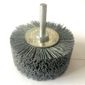 磨料丝杆平刷 研磨抛光杜邦丝花头刷 去毛刺碳化硅刷