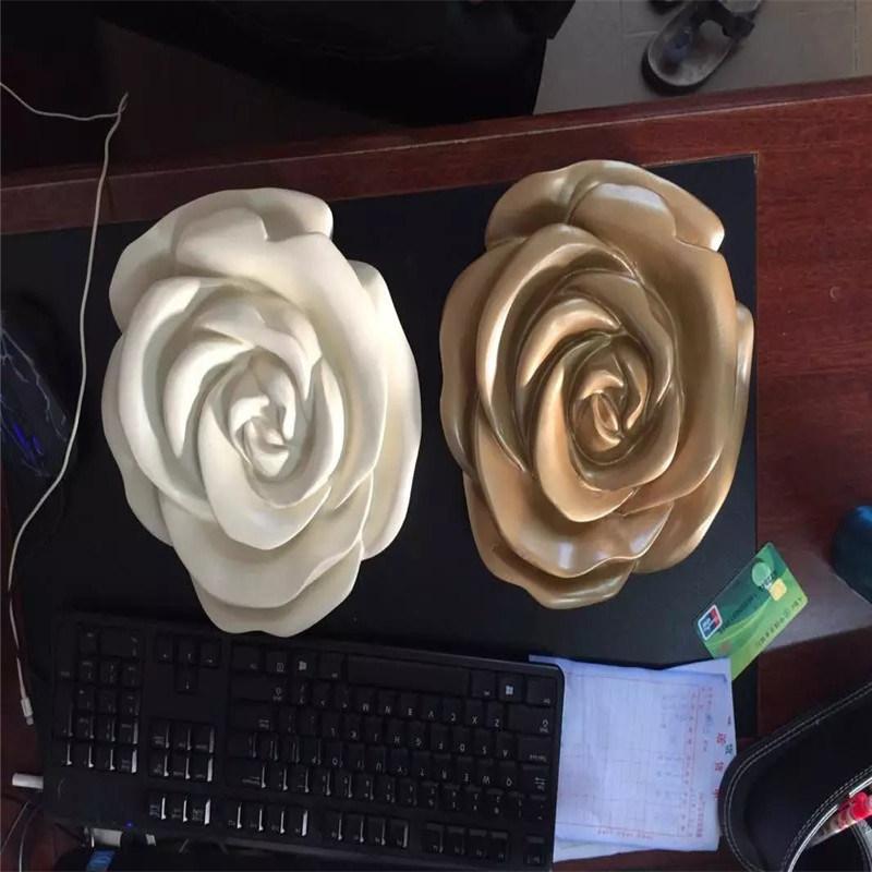 广州玻璃钢小品雕塑、户外景观玻璃钢玫瑰花雕塑造型