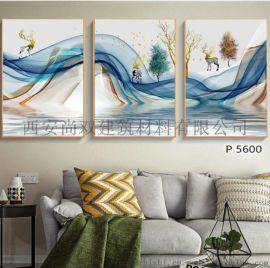 商丘抽象油画背景墙装饰画晶瓷挂画报价
