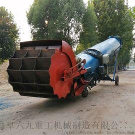 沙堆取料装车机 自走斗轮取料机LJ1自动给料装车机