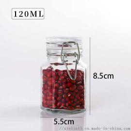 密封不锈钢卡扣玻璃罐子调料瓶
