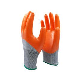 3/4浸光面丁腈5级防切割手套