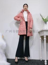 中老年女式棉衣 冬季大码女装 防寒棉服货源