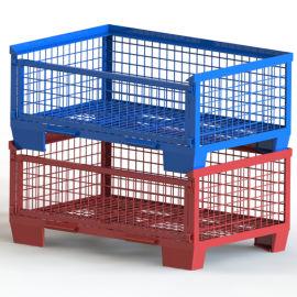 倉儲籠 堆疊式倉庫籠 帶門鐵筐
