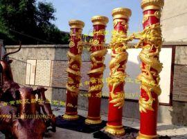 玻璃钢盘龙柱模具 欧式罗马柱龙柱模具 水泥龙柱模具