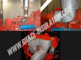 发电机排气管隔热套