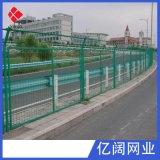 厂家现货销售绿色铁丝双边丝护栏网 圈地养殖双边丝公路护栏网