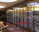 不鏽鋼展示酒櫃酒架 來圖加工  玫瑰金不鏽鋼酒櫃
