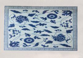 2017红木家具镶嵌景德镇手绘青花陶瓷瓷板画生产厂家