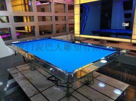 工艺品不锈钢玻璃台球桌