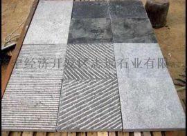 鋪地石所用石材其中的一種:機刨條紋石
