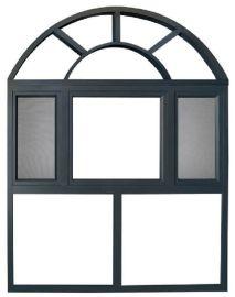 定制135系列防虫隔音隔热豪华断桥铝窗纱一体平开窗