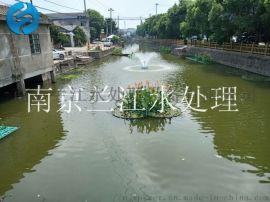 河道增氧喷泉曝气机安装现场