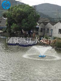 景观湖喷泉曝气机安装现场