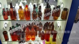 小型PET塑料瓶定制 化妆瓶定制 棕色PET加厚塑料瓶
