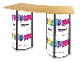 常州折叠轻便促销桌产品展示台两用展示柜洽谈桌前台商品展示柜