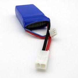 航模电池2S 7.4V 1500MAH 遥控直升飞机高倍率 电池 EL-2P插头