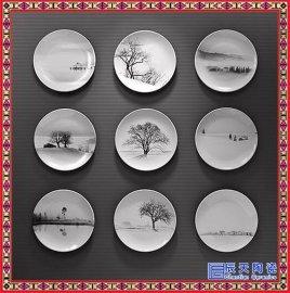 陶瓷盘子定制印照片logo纪念礼品盘家居装饰摆件壁挂工艺盘