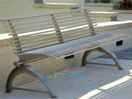 户外公园不锈钢长凳公共商场休息长条凳子球场长凳