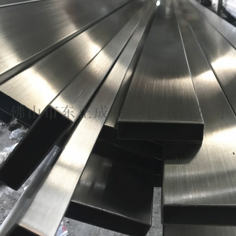 拉絲面201不鏽鋼矩形管,拉絲面不鏽鋼方矩管