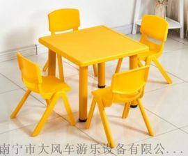 广西南宁幼儿园儿童塑料桌椅 南宁幼儿桌子 厂家直销