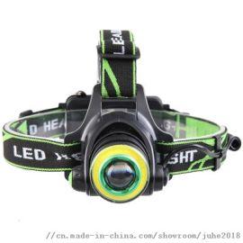 新款户外强光 远射充电钓鱼灯头戴式LED头灯探照灯