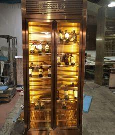 客厅现代不锈钢酒柜厨房酒柜酒架设计定做