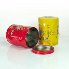 精致圆形茶叶铁罐,马口铁听包装罐,金属包装罐厂家
