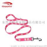 寵物牽引繩 時尚印花牽引帶 狗繩子狗鏈