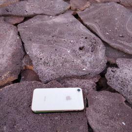 本格供应红火山岩切片 加工定制 火山石板 板材