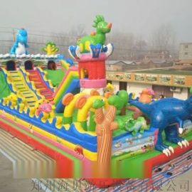 河南海贝充气城堡滑梯儿童淘气堡户外大型游乐设备