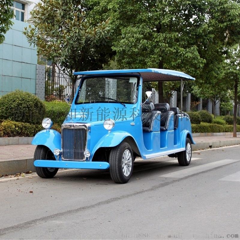 12座豪华电动老爷车 看房车 观光电瓶车 蓝色