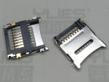 517-TF卡座连接器 掀盖式贴片连接器