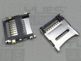 517-TF卡座連接器 掀蓋式貼片連接器
