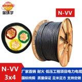 深圳市金环宇电缆 耐火N-VV 3*4平方电缆 低压电力电缆