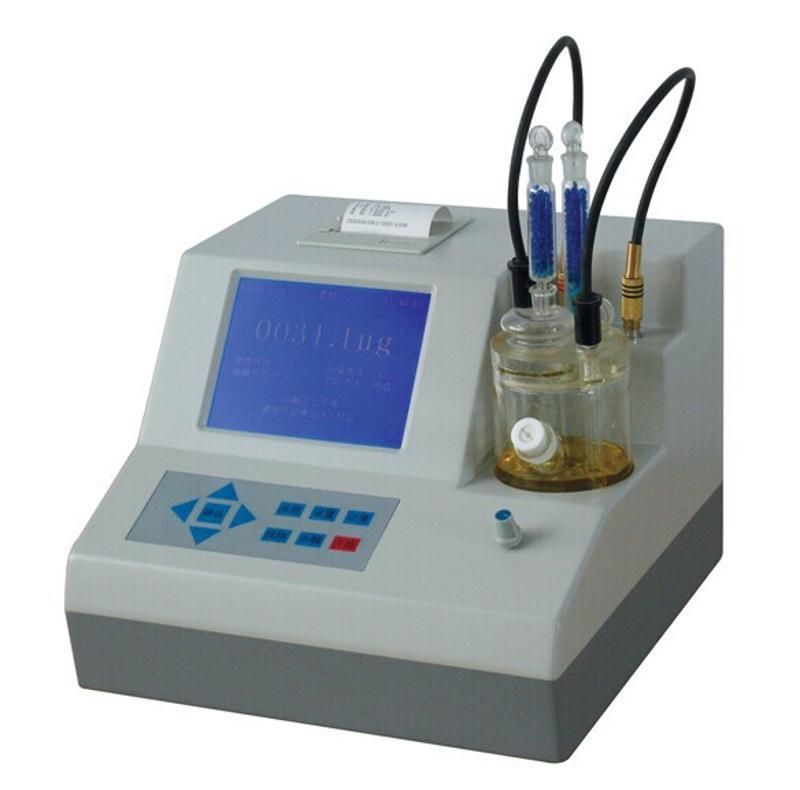 山东供应操作简单带打印机卡式微水仪WS2000    机油汽油水分仪