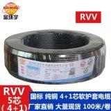 動力照明線路安裝線4*1+1*0.75安裝軟護套線 護套線 工廠